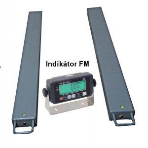 Paletové obchodné váhy FM do 3000 kg-lyžiny
