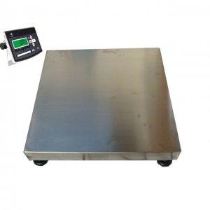 Plošinové obchodné váhy celonerezové PW do 150 kg rozmer 60 x 60 cm