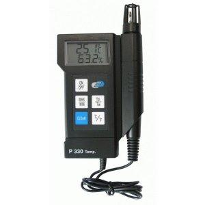 Presný teplomer - vlhkomer s externou sondou TFA 31.1023 - P330 s certifikátom o kalibrácii pre suchý sklad v bodoch: 10, 20, 30 °C / 30, 50, 70 %