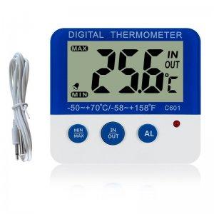 Teplomer C 601 pre chladničku a mrazničku s certifikátom o kalibrácii v bodoch : 2, 6, 10,-18,-22,-25 °C